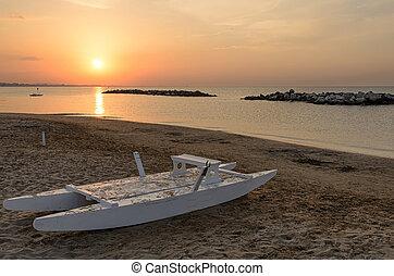 boat on the shoreline
