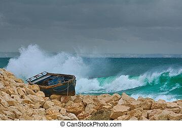 Boat on the Stony Shore