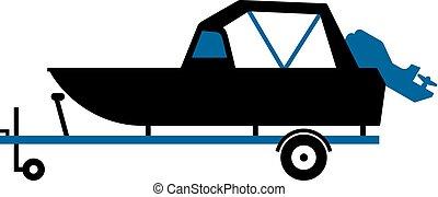 Boat trailer Clip Art Vector and Illustration. 1,543 Boat ...
