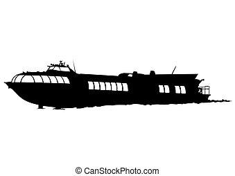 Boat on white background