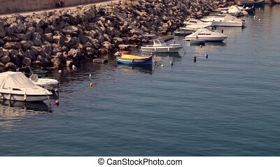 Boat parking at lighthouse