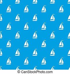 Boat pattern seamless blue