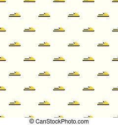 Boat pattern seamless vector