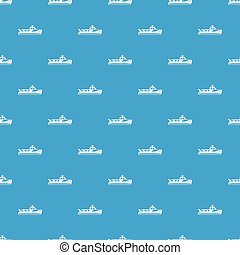 Boat pattern vector seamless blue