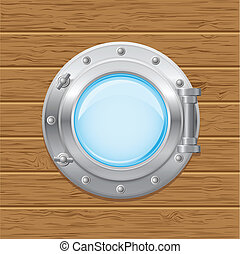 boat porthole vector illustration