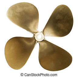 Boat propeller - four-blade boat propeller, made of brass