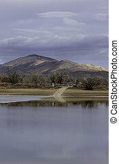 Boat Ramp at Lon Hagler Reservoir Loveland Colorado