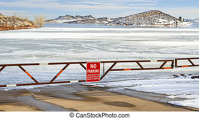 boat ramp closed for winter on Horsetooth Reservoir - Boat ...