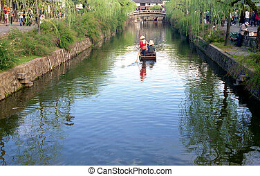 Boat Ride in Kurashiki, Japan 2 - Boat ride on canal in ...