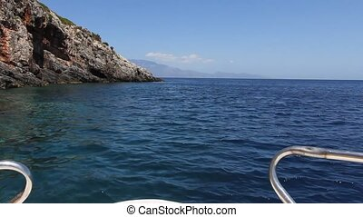 Blue Caves - Boat Ride Near Blue Caves, Zakynthos Island,...