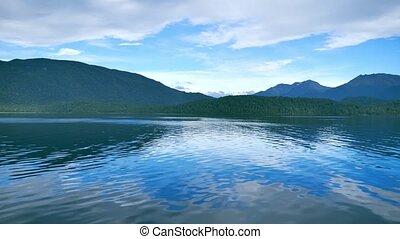 Lake Te Anau, New Zealand - Boat ride on scenic Lake Te...