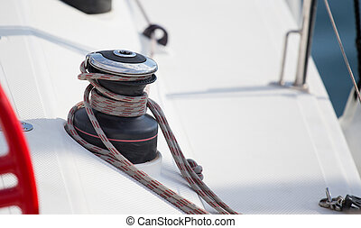 Boat ropes for tying