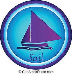 Boat - sail logo