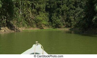 Boat Sail To Sungai Ruok Waterfall, Malaysia - Medium...
