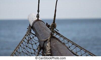 Boat sailing in the sea