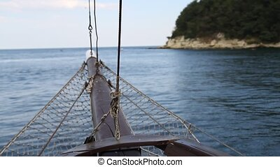 Boat sailing in the sea