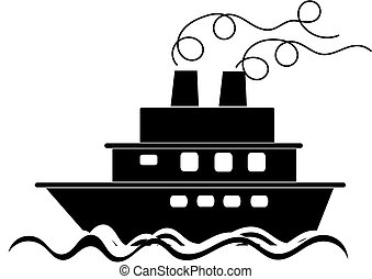 Boat sailing - silhouette image sailing boat