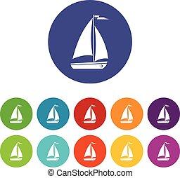 Boat set icons