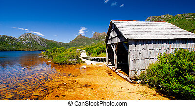 Boat Shed - Dove Lake at Cradle Mountain, Tasmania