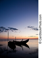 Boat Sillhouettes at Sunset