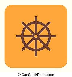 Boat steering wheel icon