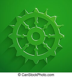 Boat steering wheel sail vector illustration