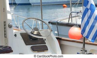 Boat Steering Wheel - Speedboat steering wheel.