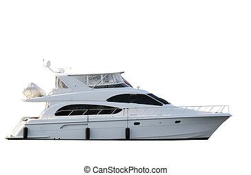 Boat - Luxurious yacht isolated on white background