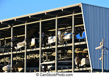 Boat storage facility - Protected boat storage facility in...