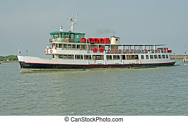 boat to transport tourists