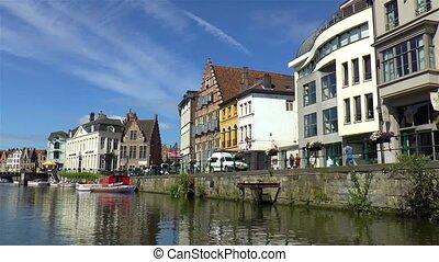 Boat tour in Ghent, Belgium.