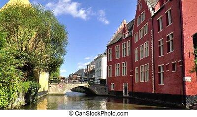 Boat tour in Ghent, Gent, Belgium.