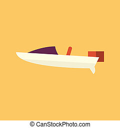 Boat. Transportation Flat Icon
