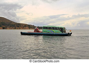 Boat Transportation on Lake Titicaca in Bolivia