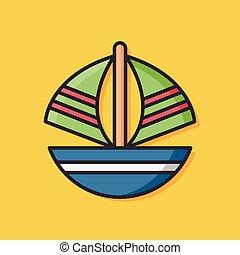 boat transportation vector icon