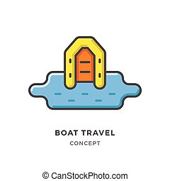 Boat travel concept