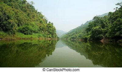 Boat Trip at Mekong River, Pongsali, Laos