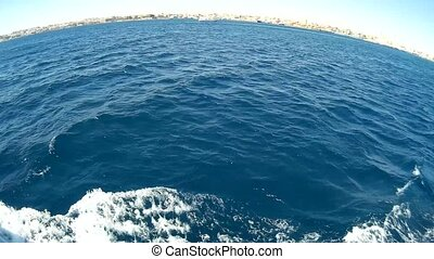 Boat trip in the Red Sea fisheye effect