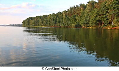 Boat trip on lake