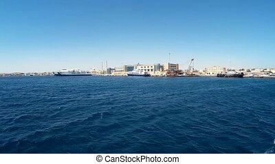 Boat trip on the pleasure boat in the Red Sea