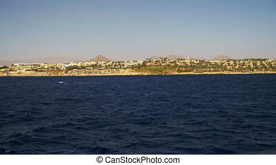 Boat Trip on the Pleasure Boat in the Red Sea with Views of the Coast Sinai Peninsula, Egypt