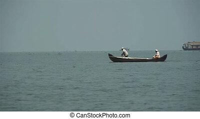 Boat trip through a lake