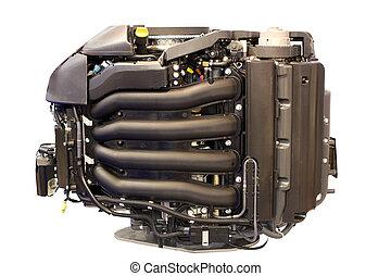 boat turbo engine isolated