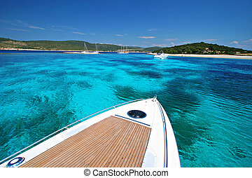 Boat Vacation on Tropical Cruise