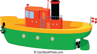 Illustration of kids and a wooden boat in a pond clipart ...
