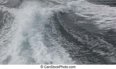 Boat wake. - Wake of a speedboat. Near Phuket, Thailand.