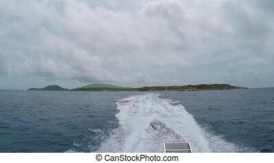 Boat Wake with Virgin Gorda
