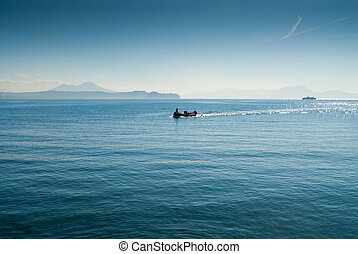 Boat with fisherman