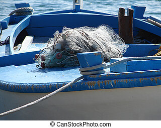 Boat with net