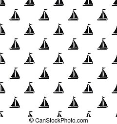 Boat with sails pattern, simple style